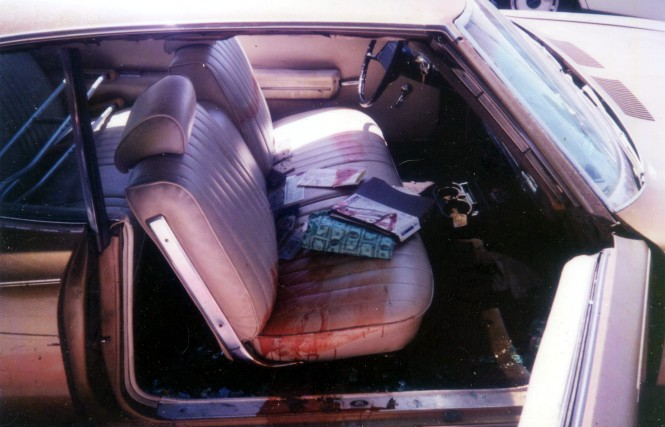 Bloodstained carseat