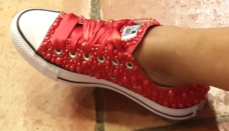 Lo's New Red Beaded Chucks (8-10-15) #2